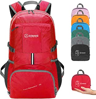 ZOMAKE Hiking Travel Backpack, Lightweight Packable Water Resistant Backpack for Men Women
