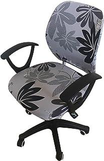 myonly Funda para silla de oficina de ordenador Boss funda para silla de escritorio cubierta de pintura de tinta giratoria extraíble funda elástica universal funda para sillón (sin silla)