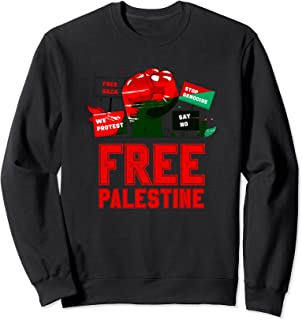 無料のガザ-無料のパレスチナが私たちが抗議するこの大量虐殺を阻止する トレーナー