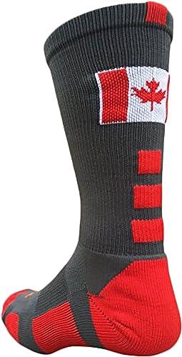 TCK Canada Flag Baseline Crew Socks