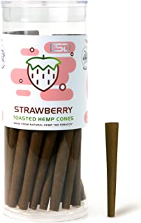 Cyclones Strawberry Flavored Pre Rolled Hemp Wraps | 50 Pack | Natural Organic Prerolled Wraps with Packing Sticks Included for Efficiency