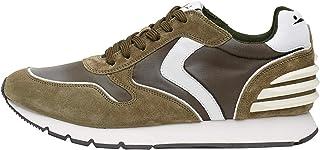 VOILE BLANCHE Sneakers Uomo Liam Mil Bianco Camoscio Tessuto Verde