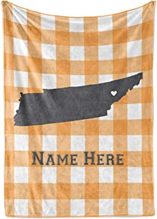 State Pride Series Tennessee - Personalized Custom Fleece Blankets with Your Family Name - Knoxville Edition