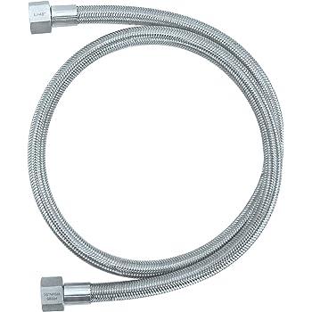1//2 FNPT - 48 Length R Female NPT FNPT High Pressure Braided Stainless Steel Chemical Hose 3000 PSI Max Pressure HFS