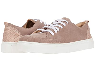 KAANAS Paris Lace-Up Sneaker w/ Contrast Heel (Mauve) Women