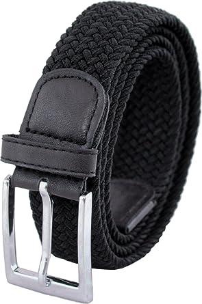 "Mens 33mm (1.25"") Elastic Webbing Belt by Ashford Ridge (Sizes 32"" - 60"")"