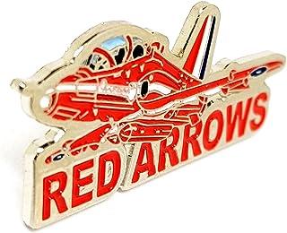 Spilla in Metallo smaltato RAF Rosso Freccia Aereo (Parole) Aereo Aereo