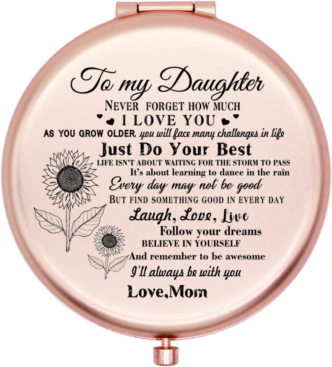 Onederful Daughter Gifts Travel Max 67% OFF Compact Pocket for Factory outlet Daught Mirror