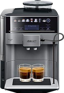 Siemens EQ.6 plus s100 TE651209RW Kaffevollautomat, Polycarbonate, 1.7 liters, Schwarz, Titan