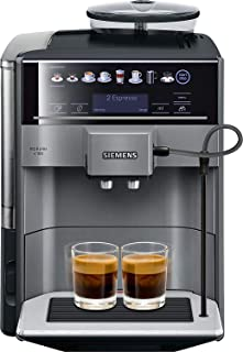 Siemens EQ.6 plus s100 TE651209RW - Machine à café automatique Polycarbonate, 1,7 L, Noir, Titane