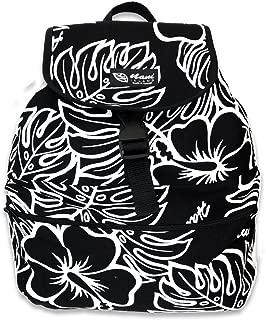 Hawaiian Style made in Hawaii Backpack 100% Cotton Canvas (Black)