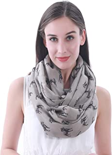 Lina & Lily Staffordshire Bull Terrier Dog Print Women's Infinity Scarf