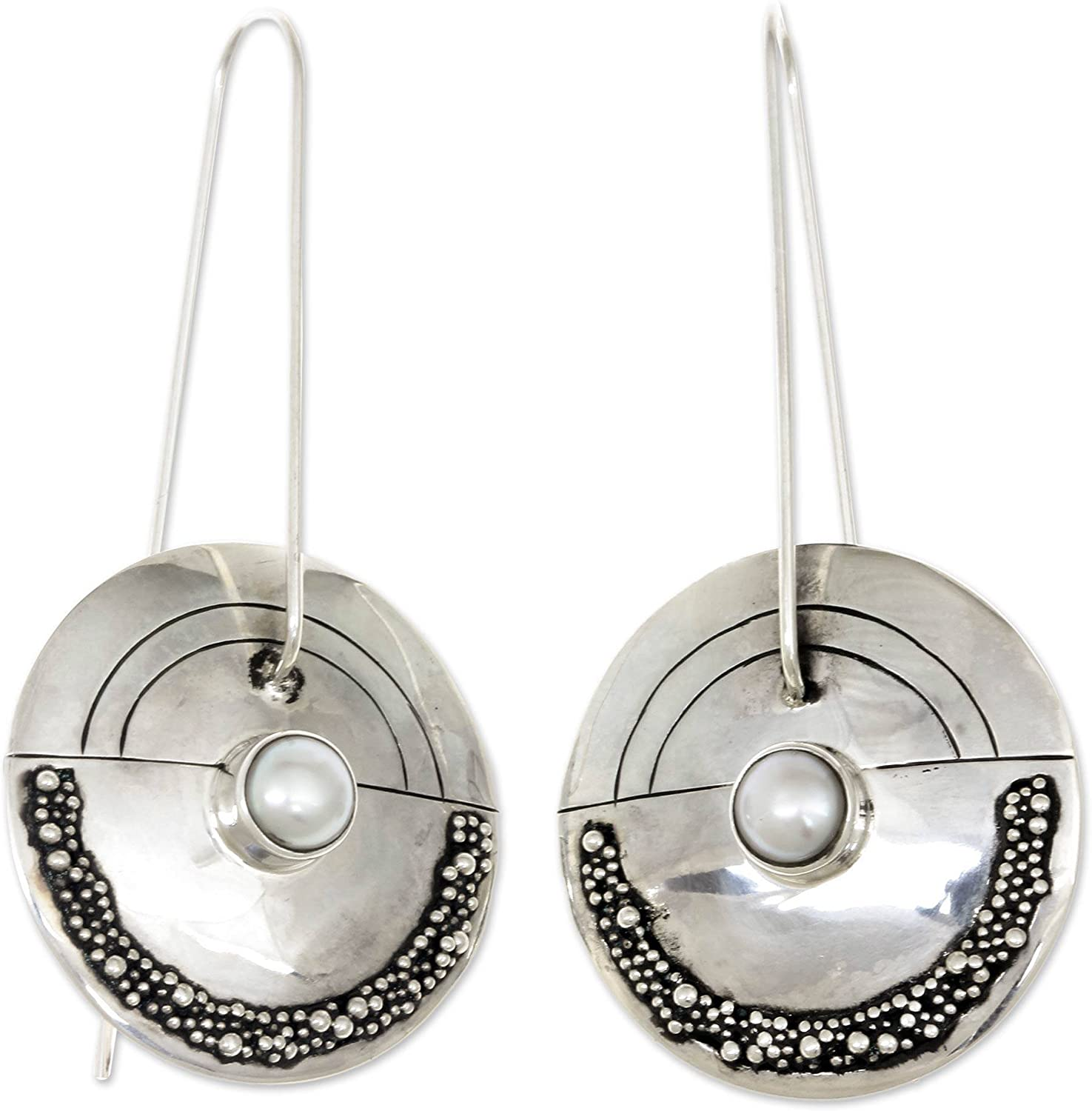 NOVICA Sterling Silver and Cultured Pearl Oakland Mall quality assurance Earrin Freshwater Drop
