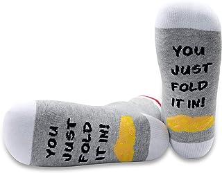 PYOUL 1 Pair You Just Fold In It Socks Fold In The Cheese Socks Fan Gift