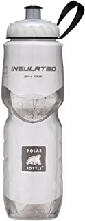 Polar Bottle Insulated Water Bottle 24 oz - 100% BPA-Free Cycling and Sports Water Bottle - Dishwasher & Freezer Safe (White, 24 Ounce)