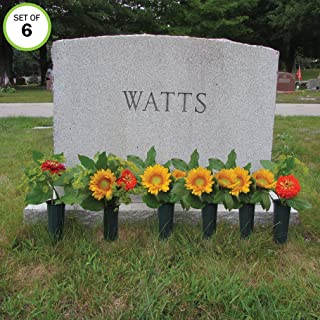 Evelots Cemetery Cone Vases-with Stakes-10 Inch Long-Graveside Memorial-Set of 6