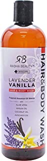 Radha Beauty Moisturizing Hair and Body Wash, 16 oz. - Infused with Aloe Vera, Argan Oil, Coconut Oil and Avocado Oil for ...