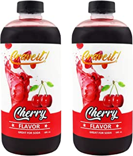 Crave It 18 Ounce Cherry Flavor Syrup - 2 Pack