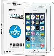 OMOTON [2 Stück] Displayschutzfolie für iPhone se/5s, 9H Härte, Anti-Kratzen, Anti-Öl, Anti-Bläschen
