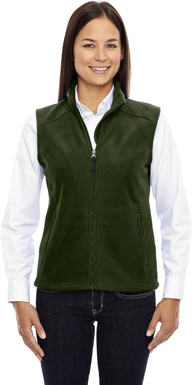Core 365 Journey Ladies Zipper Fleece Vest, FOREST GREN 630, XXX-Large