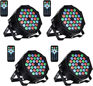 LED Bühnenlicht Par Scheinwerfer DMX512 RGBW Bühnenbeleuchtung mit Drahtlose Fernbedienung Beleuchtung Lichteffekt für Stage Lights Disco DJ Party Show Bar UKing (36 LED)