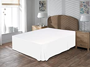 Luxurious Comfort Collection 800TC Pure Cotton Bed Skirt 18 Drop Length 100% Egyptian Cotton White Bed Skirts King Size