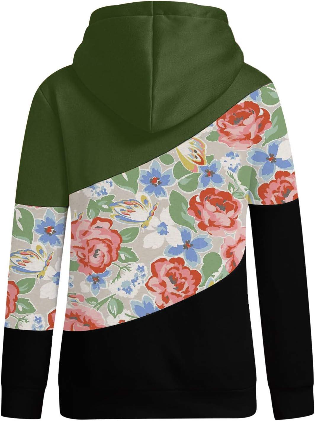 FantaisieZ Damen Herbst Winter Hoodie Outwear Kapuzenpullover Frauen Warm Elegante Hooded Sweatshirt mit Kapuze Mantel Jacke Tops Outwear Hoodie mit Kordel und Taschen Schwarz-6
