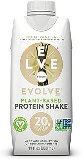 Evolve Protein Shake, Ideal Vanilla, 20g Protein, 11 Fl Oz (Pack of 12)