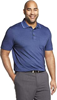 Van Heusen Men's Big and Tall Flex Short Sleeve Stretch Stripe Polo Shirt