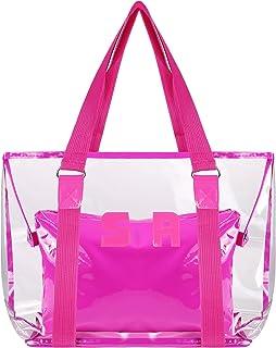 Comius Sharp Strandtasche Durchsichtig Große, Durchsichtige Tasche mit Innentasche, Schultertasche Umhängetasche Damen Tra...