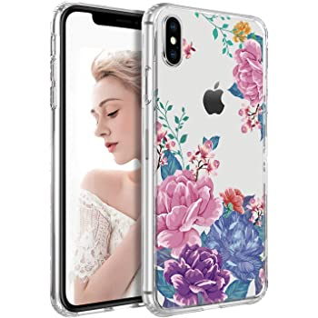 BENTOBEN iPhone Xs Max Case, Slim Fit Thin Hybrid Hard PC Soft Rubber Drop Protection Shockproof Bumper Anti-Scratches Non-Slip Girls Women Phone Case Cover for 6.5 Inch iPhone Xs MAX 2018, Flower