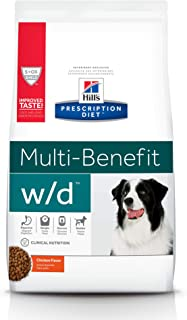 Hill's Prescription Diet Dry Dog Food, Veterinary Diet, w/d Multi-Benefit Digestive/Weight/Glucose/Urinary Management, Chi...