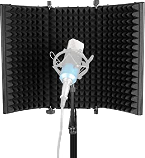 Neewer Professional Studio Recording Microphone Isolation Shield. High Density Absorbent Foam is Used to Filter Vocal. Com...