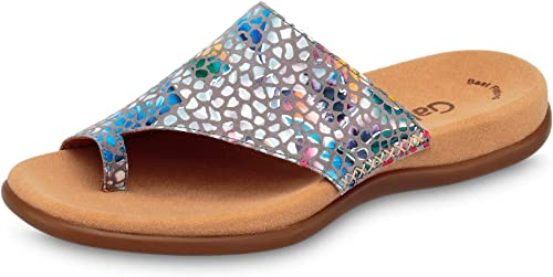 Gabor Blau überGrün in Schuhe Slipper Damen