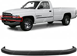 BUMPERS THAT DELIVER - Textured, Black Front Upper Bumper Pad for 1994-2002 Dodge RAM 1500 2500 3500 94-02, CH1000160