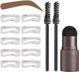 Eyebrow Stamp Waterproof Stencil Kit - Brow Stamp Shaping Kit Eyebrow Definer - With 10 Reusable Eyebrow Stencils 2 Eyebro...