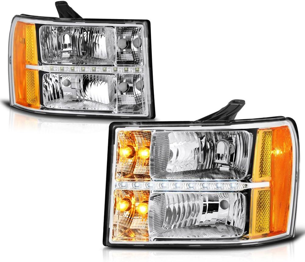 VIPMOTOZ Chrome Housing 商品追加値下げ在庫復活 LED Strip 正規激安 DRL Headlight Headlamp Assembl