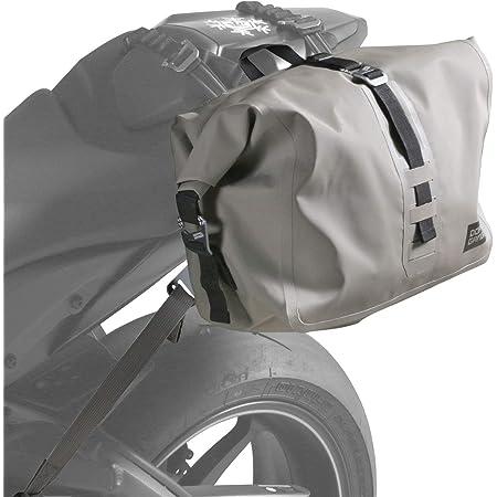 ターポリンシングルサイドバッグ 【片持ち装着のバイク用防水バッグ】 容量14L 装着用ベルト・脱落防止ベルト付き