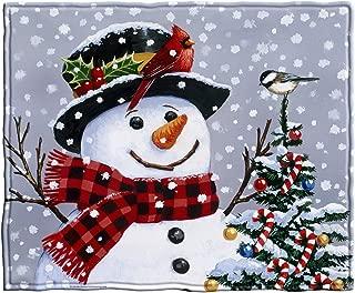 Snowman Fleece Throw Blanket