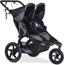 BOB Gear Revolution Pro Duallie Jogging Stroller - Up to 100 pounds - UPF 50+ Canopy - Easy Fold - Adjustable Handlebar with Hand Brake, Black