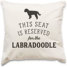 NEW - RESERVED FOR THE LABRADOODLE - Top Quality Cushion Cover - Dog Gift Present Xmas Birthday