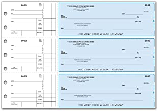 CheckSimple 3-Per-Page All-Purpose Manual Business Checks with Stub Voucher (500 Checks) - Custom