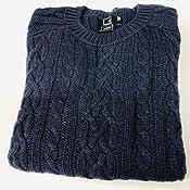 Label: XL MERAKI Jersey Cable Knit de Algod/ón con Cuello Redondo Mujer 44 Marca Azul Navy Denim