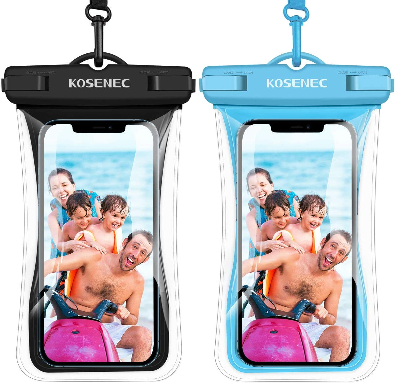 Universal Waterproof Phone Case, Floating IPX8 Waterproof Cellphone Pouch Underwater Dry Bag for iPhone 12/12 Pro Max/11/11 Pro/SE/XS/XR/8 Galaxy up to 6.9