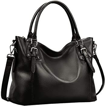 Heshe Women's Leather Handbags Shoulder Tote Bag Top Handle Bags Satchel Designer Ladies Purses Cross-body Bag
