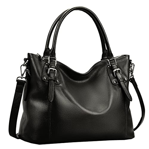 65b5da1ad1 Heshe Womens Genuinne Leather Handbags Tote Top Handle Bag Shoulder Bag for  Women Crossbody Bags Ladies