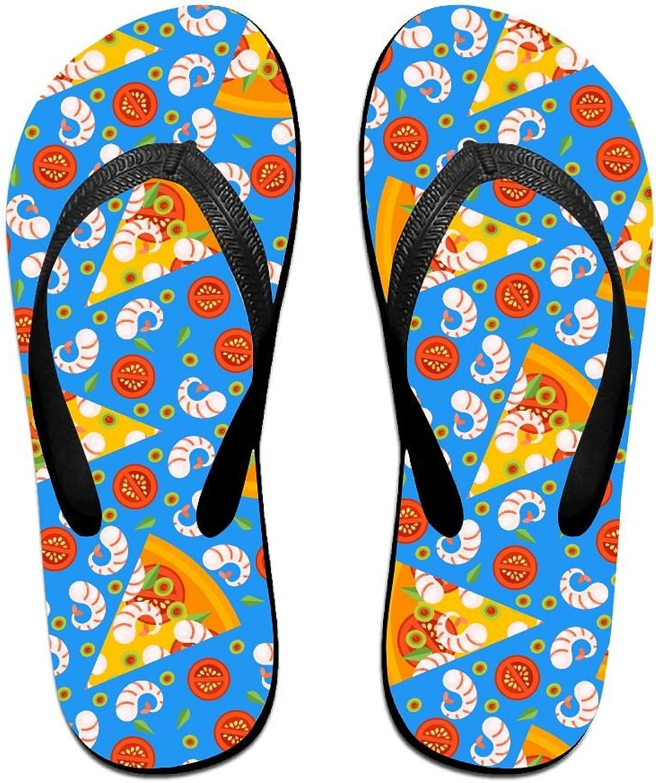 Unisex V Flip Flops Pizza Slices Pattern Personalized Summer Slipper