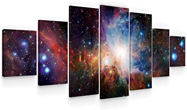 Startonight Huge Canvas Wall Art - Awesome Space - Home Decor - Dual View Surprise Artwork Modern Framed Wall Art Set of 7...