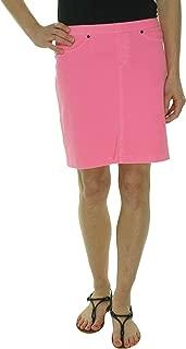 Chino Neon Jeans Skirt (Medium 8/10, Neon Pink)