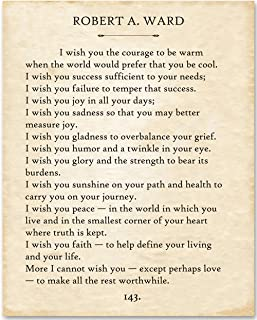 Robert Ward - I Wish You. - 11x14 Unframed Typography Book Page Print - Great Gift for Book Lovers